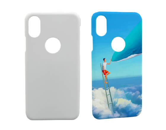 Sublimation 3D Phone Case for iPhone X With Logo Hole
