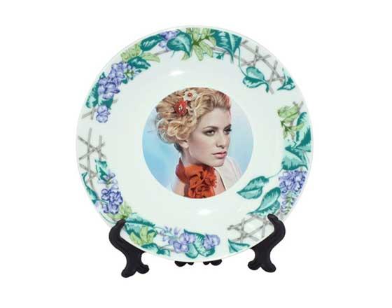 Rim Plate with Vine