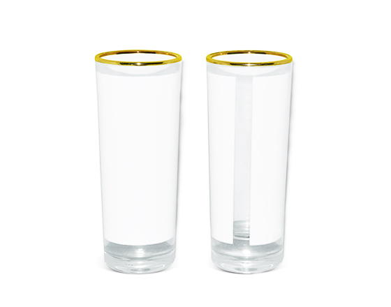 3oz Shot Glass Mug with Gold Rim