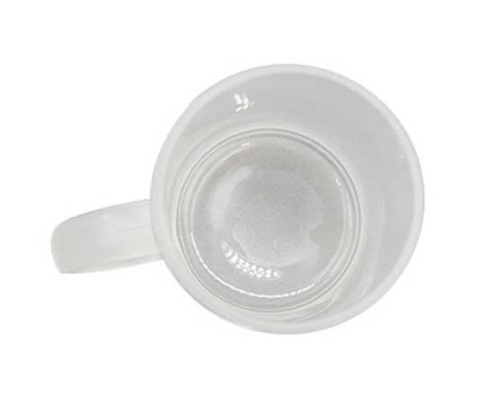 11oz All White Glass Mug