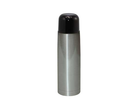 350/500ml Sublimation Flask Thermos Bottle With Black Lid