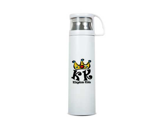 350/500ml Sublimation Stainless Steel Vacuum Flask With Clear Cap