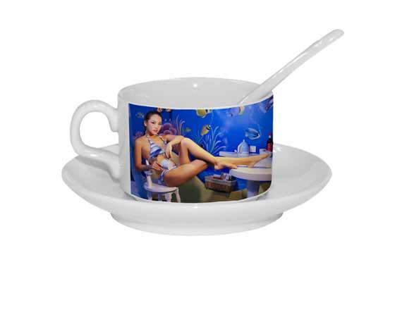 5oz White Coffee Mug Set
