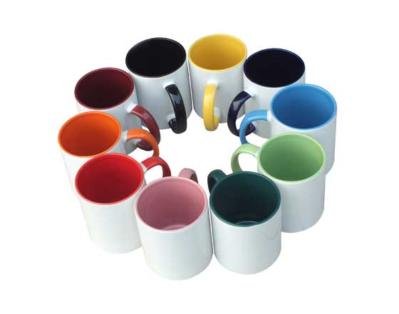 11oz Inner Handle Color Mug (Red)