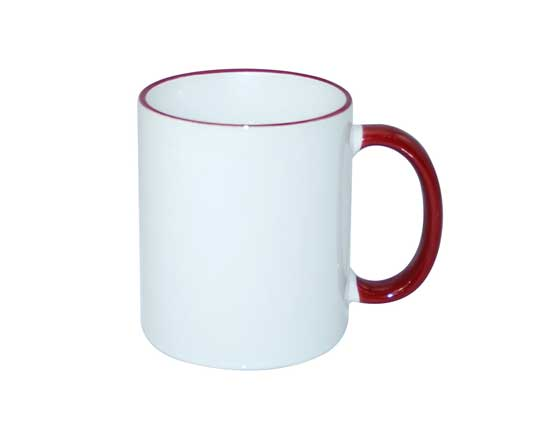 11oz Rim Handle Color Mug