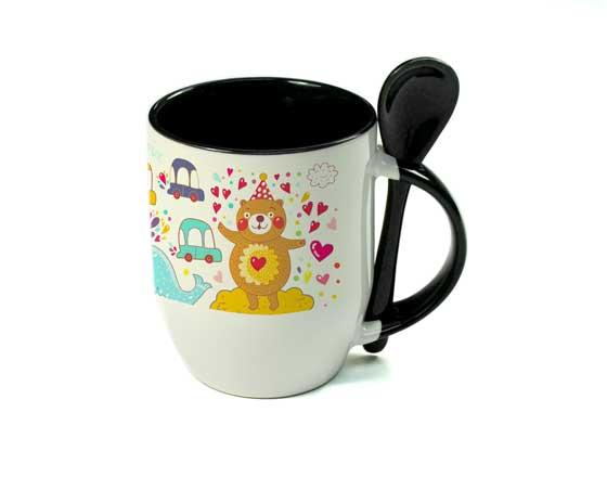 11oz Color Sublimation Spoon Mug