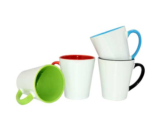 12oz Conic Inner & Handle Mug