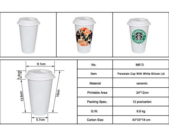 Eco Ceramic Tumbler Coffee Mug