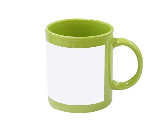 11oz Full Colour Mug with white patch