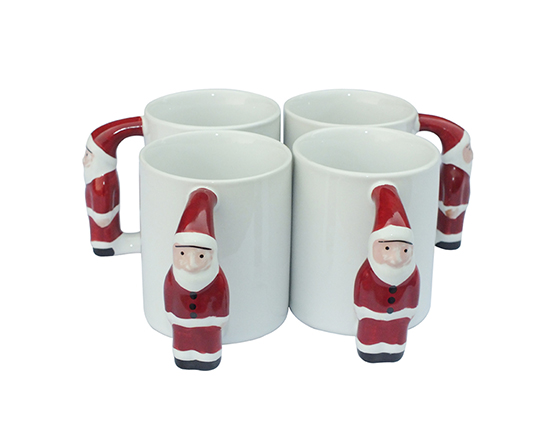 11oz Santa Claus Handle Mug
