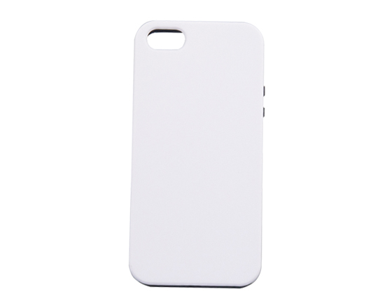 Sublimation Coated 3D 2 in 1 Phone case for iPhone5S