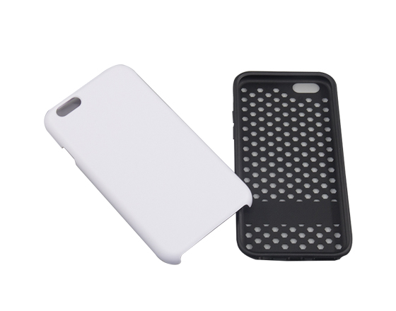 Sublimation Coated 2 in 1 phone case for iPhone6 Plus