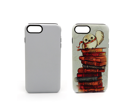 Sublimation 3D 2 in 1 Phone case for iPhone7 Plus