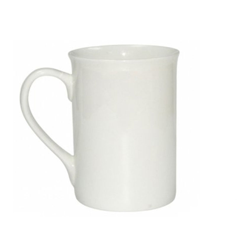 10oz White Coated Mug
