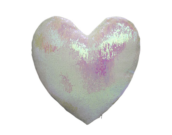 Heart Shape Sequin Pillow Cover ( Pink)