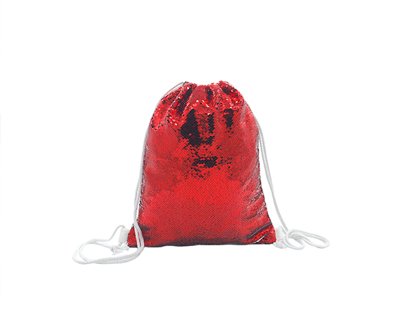 Sublimation Printable Blank Sequin Drawstring Backpack(Pink)
