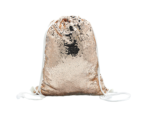 Champagne Sequin Drawsring Bag