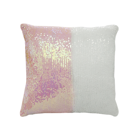 Square Shape Sequin Pillow Cover ( Pink)