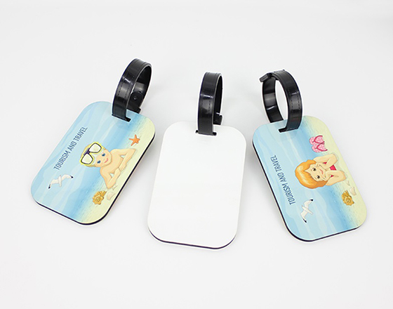 Rectangle MDF Luggage Tag