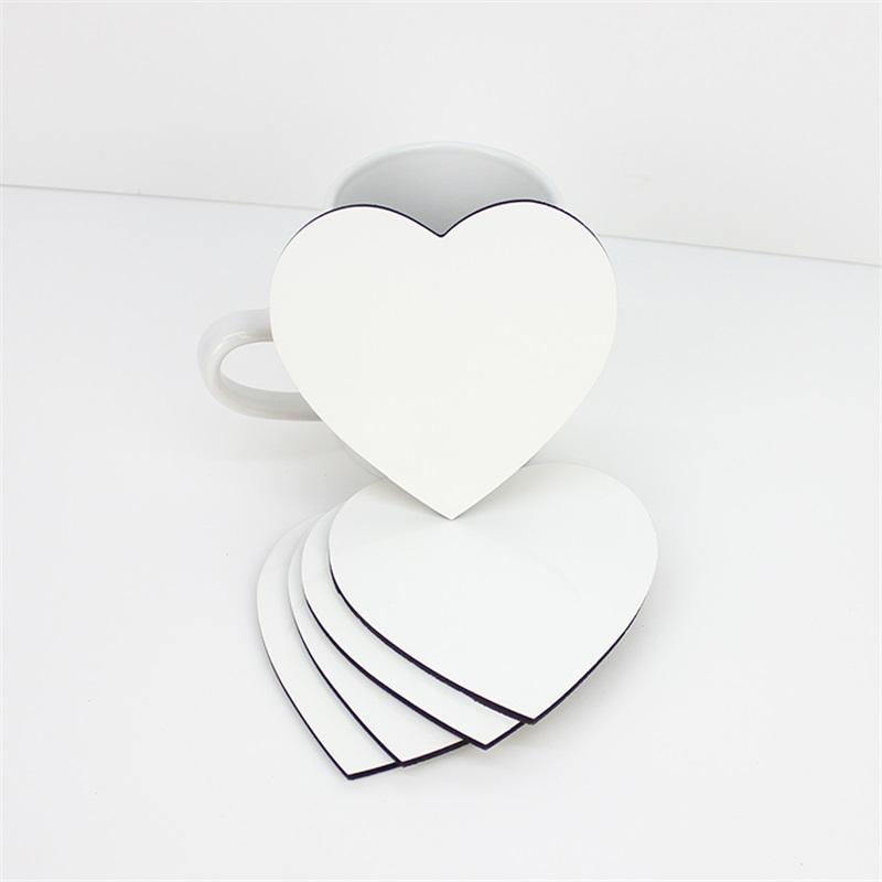 Heart Shape MDF Coaster With Cork