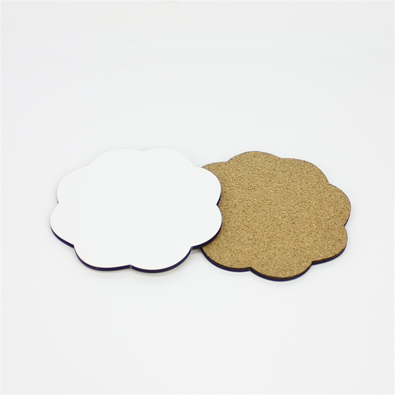 Flower Shape MDF Coaster With Cork