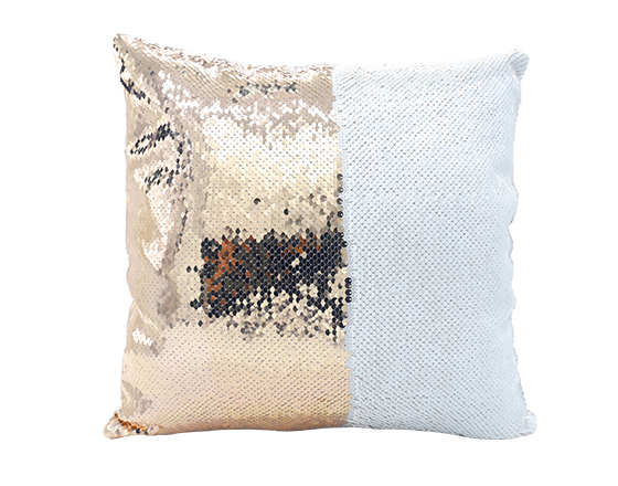 Square Shape Sequin Pillow Cover (champagne)