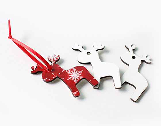 65*54*3mm  MDF Christmas Ornament