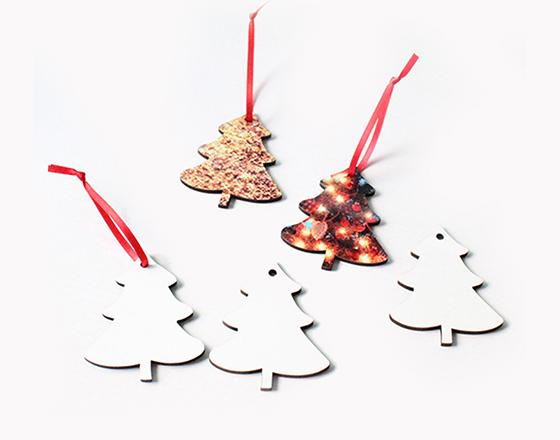 75*60*3mm  MDF Christmas Ornament