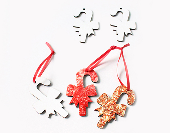 80*51*3mm  MDF Christmas Ornament