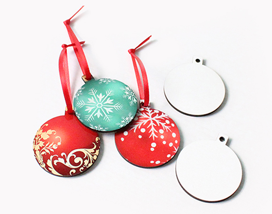 58*50*3mm  MDF Christmas Ornament