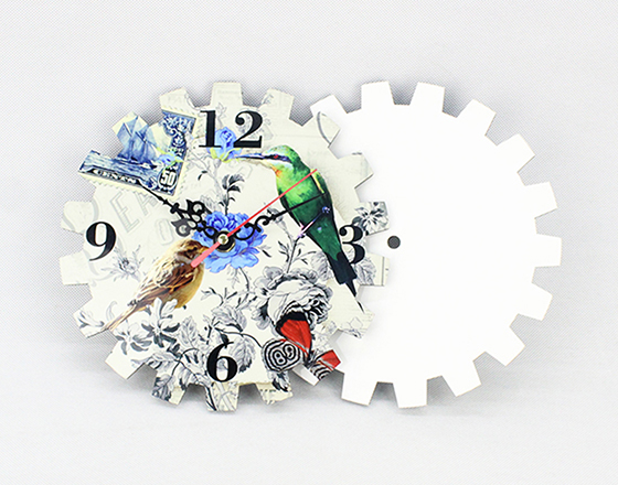 19*16.4cm Sublimation MDF Wall Clock
