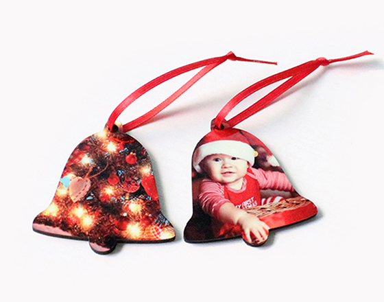 65*60*3mm  MDF Christmas Ornament