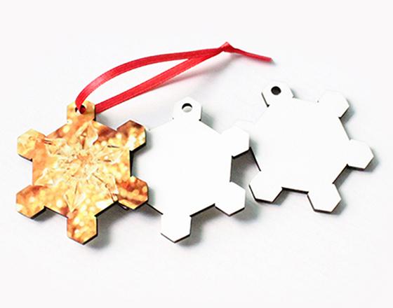 60*50*3mm  MDF Christmas Ornament