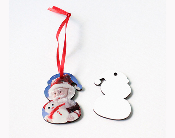 58*47*3mm  MDF Christmas Ornament
