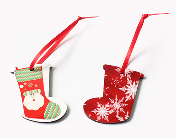 60*50*3mm  MDF Christmas Ornament