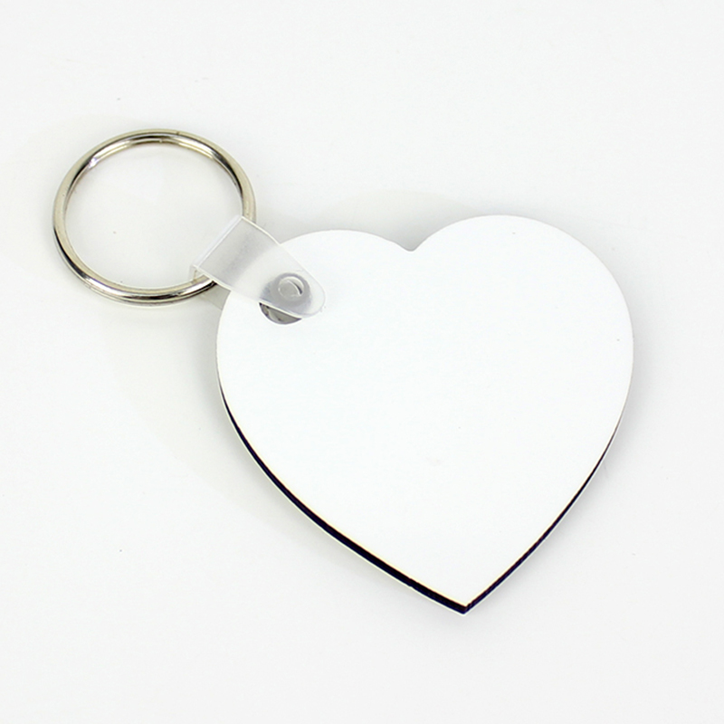 Heart Shape Sublimation MDF Keychain