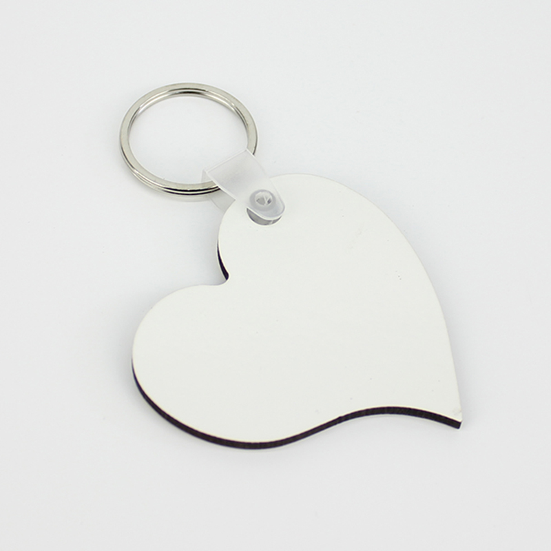 Peach Shape Sublimation MDF Keychain