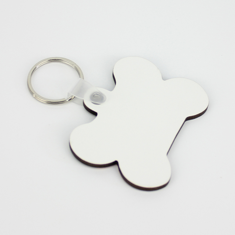 Bone Shape Sublimation MDF Keychain