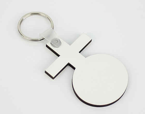 61*40*3mm  MDF Keychain