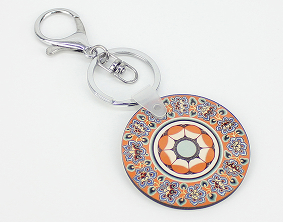 Round Shape MDF Keychain