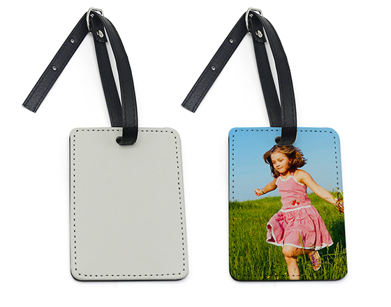 Sublimation PU Leather Luggage Tag (Edge Wrapped)