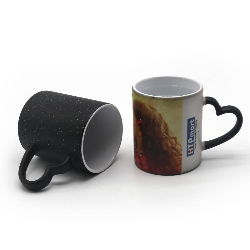 11oz Sublimation Heart Shape Handle Star Talk Color Changing Mug