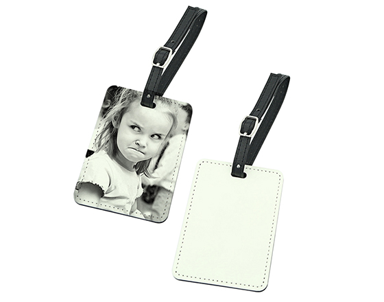Sublimation Double-Sided PU Leather Luggage Tag (Oil Spray)