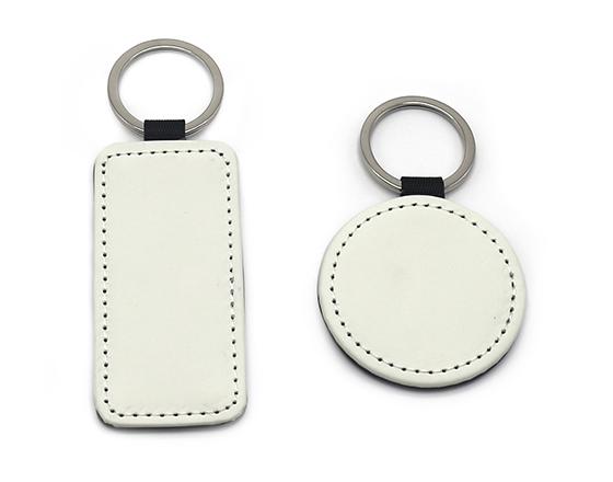 Sublimation Single Sided PU Leather Keychain