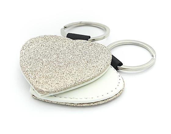Sublimation Single-Sided PU Leather Keychain (Glitter Powder)
