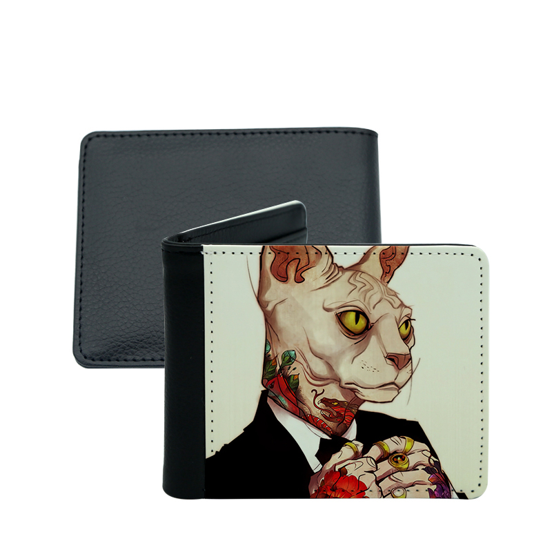 Sublimation PU Leather Men's Wallets With Photo