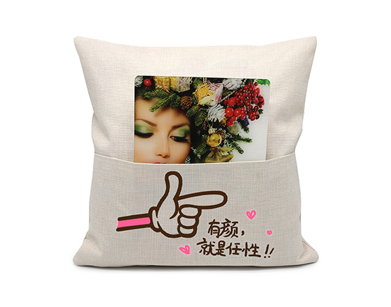 Sublimation Linen Pocket Book Pillow Case