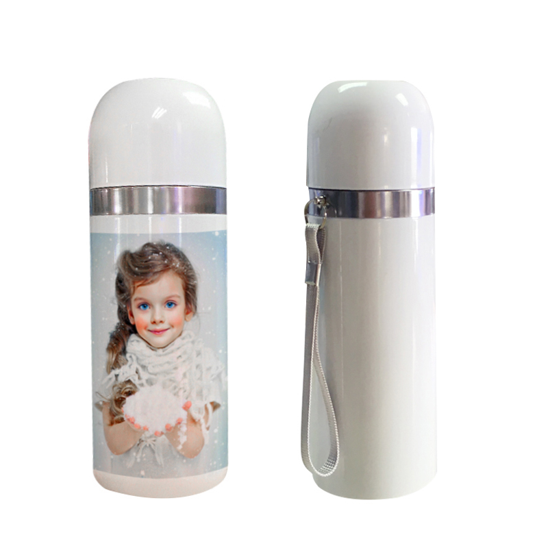 350/500ml Sublimation Stainless Steel Vacuum Blottle With Belt