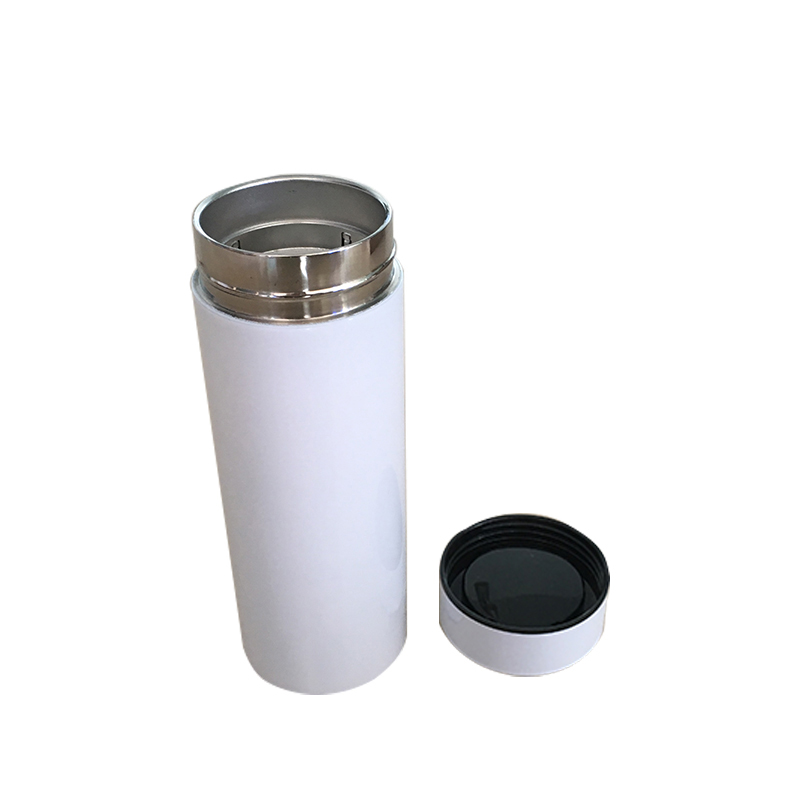 350/450ml Sublimation Stainless Steel Vacuum Flask Flat Cap