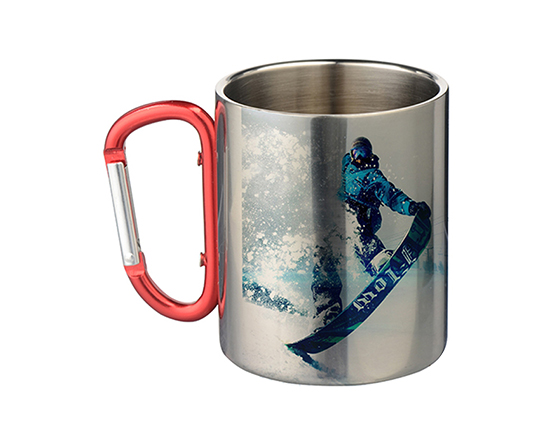 Sublimation Doule Walled Stainess Steel Mug With Carabiner Handle